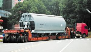 湖南株洲南车造世界最先进铁路货车 首批出口阿