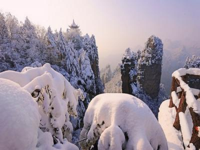 张家界冬季旅游冰雪童话世界...