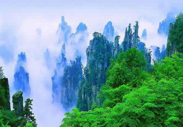 天子山�L景