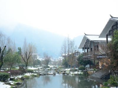 张家界黄龙洞景区今冬雪景图片欣赏