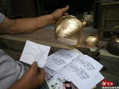 张家界市文体广新局调研考察慈利铜壶制作技艺