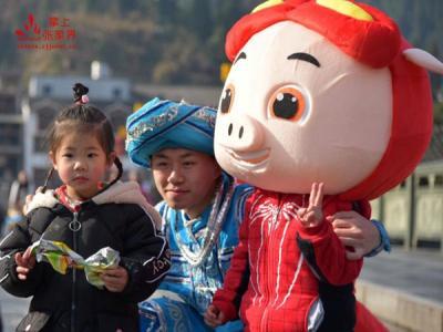 张家界黄龙洞景区春节民俗文化活动掠影