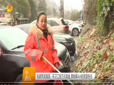 张家界春节现最美环卫工郭彩莲 获央视卫视齐赞