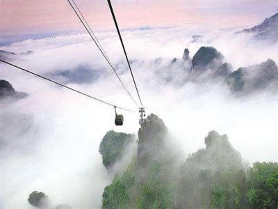 天门山索道:索道建设的一个奇迹